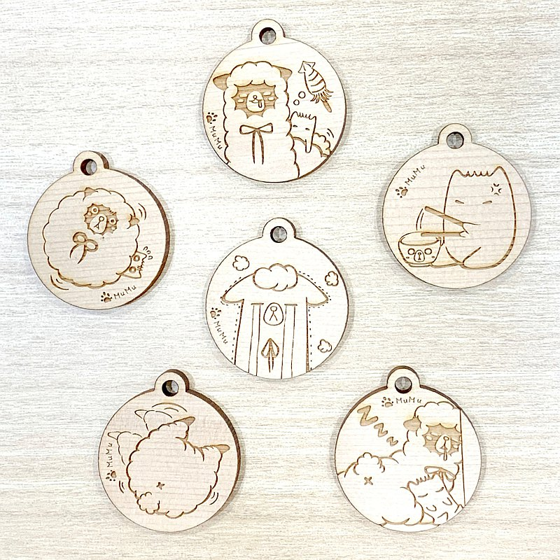 羊駝子日常系列/ 鑰匙圈