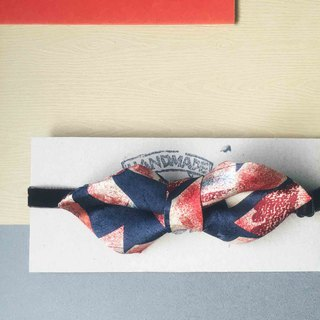 Antique Tie Remanufactured Handmade Bow Tie - Magical Moment - Wide Edition