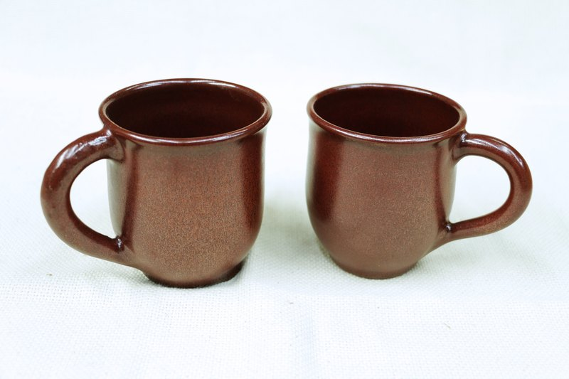 Iron Red Glaze Red Iron Series - Features Mug - handmade--handmade--casting--glazed--Clay