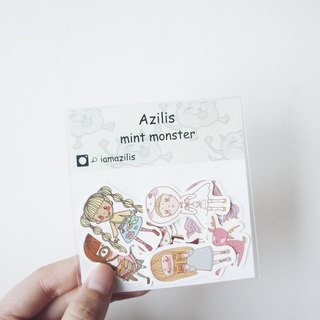 ◆ cute monster stickers mint into groups -7