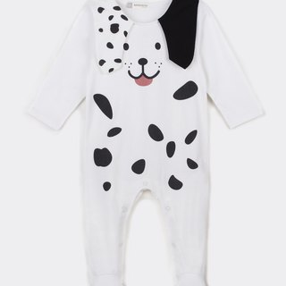 Dalmatian bag foot jumpsuit - exquisite gift box set