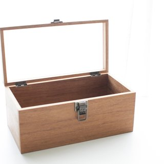 Customized boutique storage teak glass box wood box large