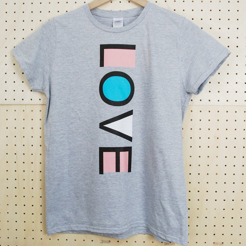 "New Designer-T-shirt: 【LOVE】 Short Sleeve T-shirt ""Neutral / Slim"" (Ma Gray) -850 Collections"