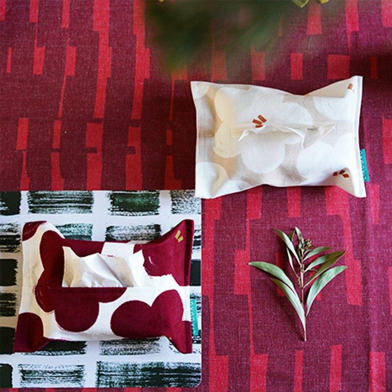 原創設計秋冬新年紅色喜慶客廳北歐風格紙巾包桃花朵朵紙巾套
