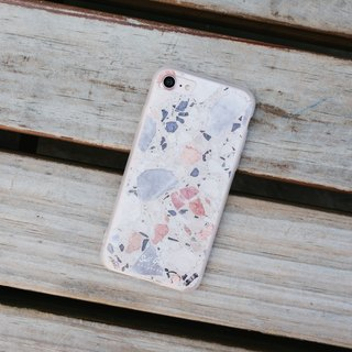 Original white Terrazzo Phone case (iPhone,Samsung) with hard shell froste