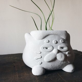 Goro cement pot / flower / pen holder / diffused stone