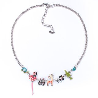 【Paris, France TARATATA】 animal party series animal party necklace (small)
