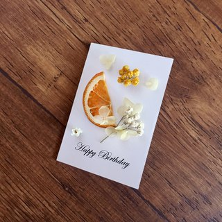 | Sweet Orange Bubbles | Dry Flower Cards. Give my dear to you. Can write. Folding card