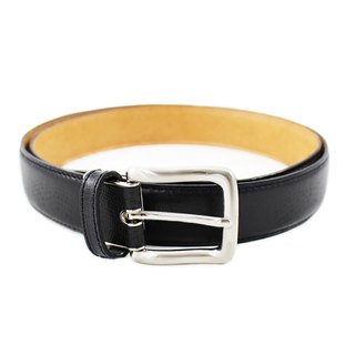 FULLGRAIN │ Italian leather planted leather lizard pattern waistband black