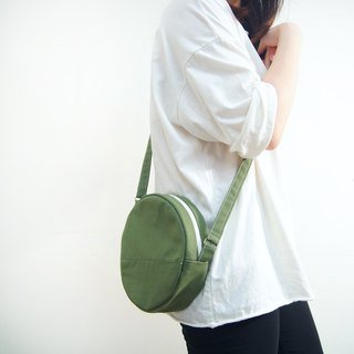 Forest Department Matcha Three Brothers' Small Round Bag - Medium Green