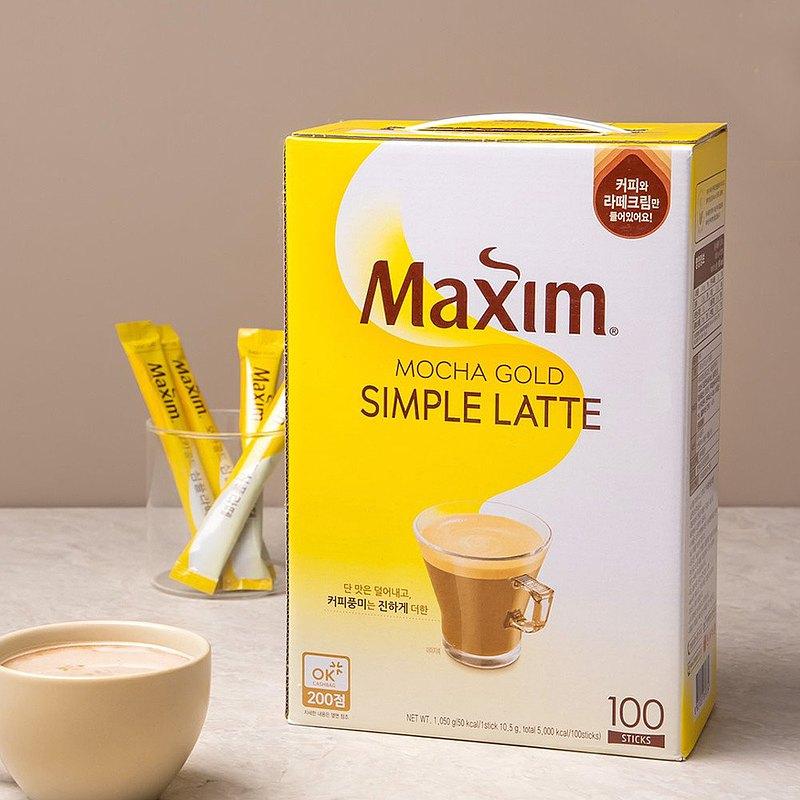 Maxim Mochagold Simple Latte經典拿鐵咖啡 1050g(10.5g×100入)