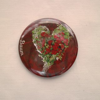 Baum flower can badge 2 coset red / red