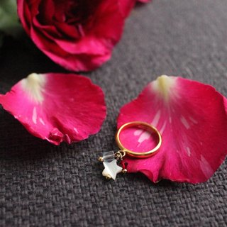 ◆hippie◆ Dropstone│Chic Star Crystal Gems Gold-tone finished Ring
