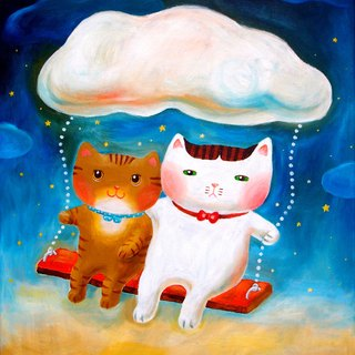 [] Cattitude Cat oil paintings Order - Romance Series -L16