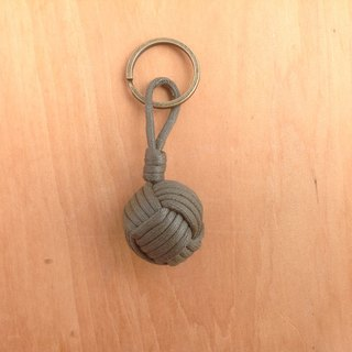 Monkey fistknot sailor key ring - dark green