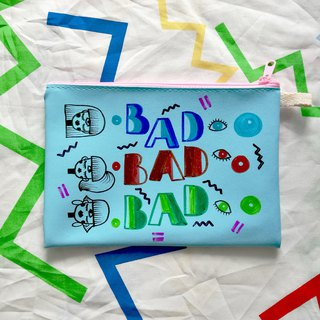 Hand-painted Clutch Bag : BAD BAD BAD
