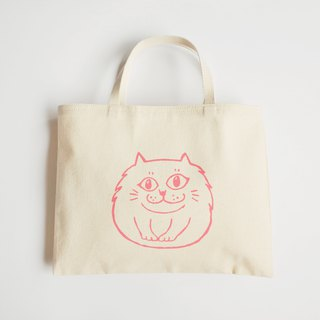 Canvas Tote / Eco Bag / Two Cups Drink Bag / Smile Persian Cat