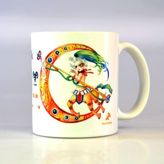 Tiger Sheep - Sagittarius / 12 constellation illustrations mug