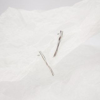 Musetree】 【Sealand sealand independent design | 925 silver original small trunk texture earrings earrings