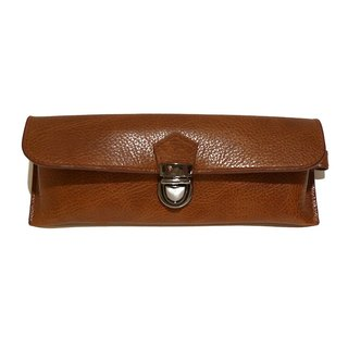Leather glasses bag