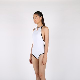 Crossback Bow suit - White / swimwear / S