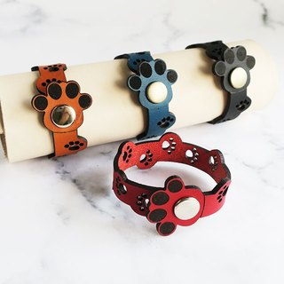 Genuine leather bracelet full of paws ☆ for children