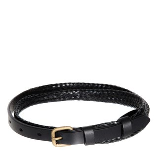 ONLY LOVERS LEFT Belt Black Plated / Black Knot