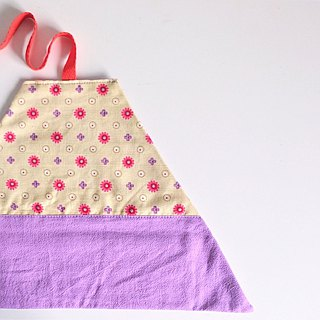 Utensil Wrap (Almond Floral print x Purple)