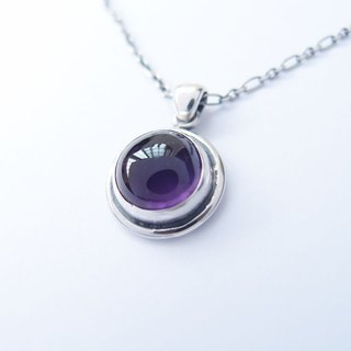Gemstone Amethyst 925 Silver Necklace