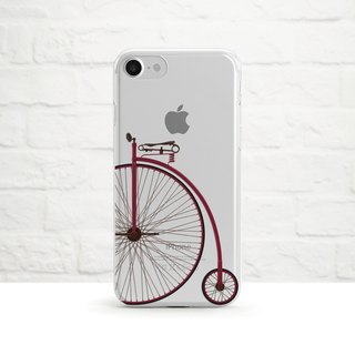 Penny-farthing Bicycle, Clear Soft Phone Case, iPhone X, iphone 8, Samsung