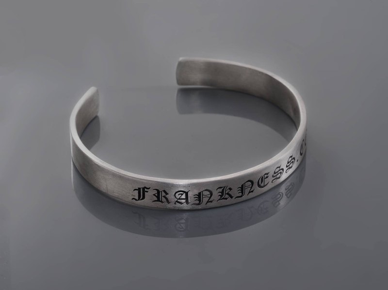 Frankness | 925 sterling silver men's bracelet 10mm-sterling silver / handmade / gift / custom / couples