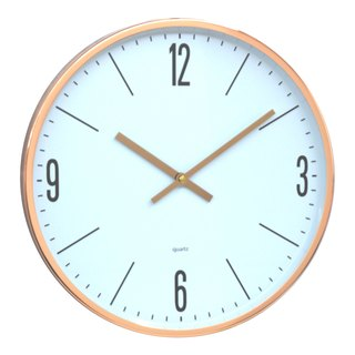 "Euro - 15 ""inch rose gold wall clock (metal)"
