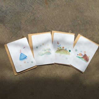 - where to hide - theme creation x illustration small card (1 set of 4)