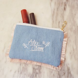 A. Strawberry Lovely Flowing Sultan Cosmetic Bag - Light Blue