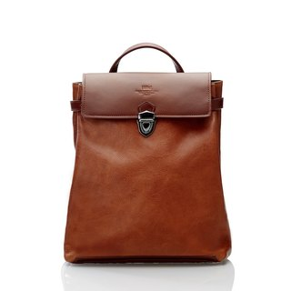 Backpack - Brown Full Leather