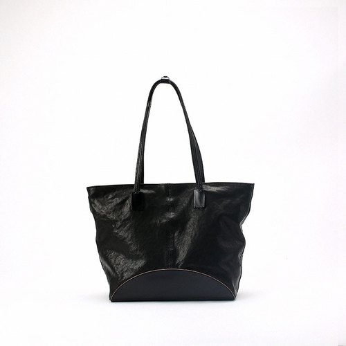 Pure hand-made vegetable tanned lambskin stitching sheepskin tote bag • Bodhi said: FOSTYLE