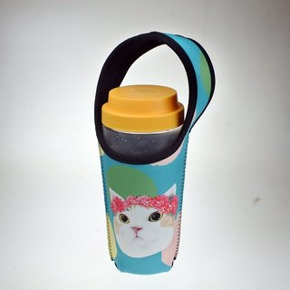 Three cats cat pattern eco-friendly beverage bag corolla cat