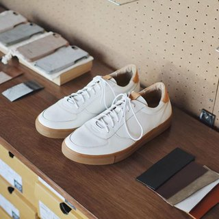 Derby-s II Vegetable Tanned leather 白色褐色底