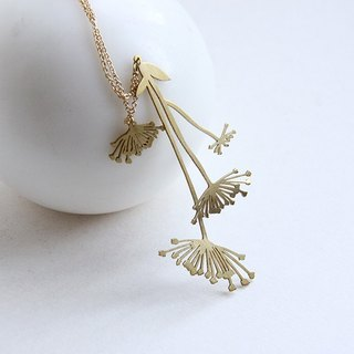 Flower Pollen Graphic Illustration Necklace - Handcraft Jewelry