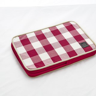 Lifeapp Sleeping Pad Replacement Cloth --- XS_W45xD30xH5cm (Red and White) does not contain sleeping mats