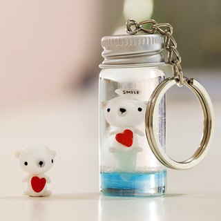 Ocean ice floes soft pot polar bear snow crystal ball rice carving key ring customized can write cards