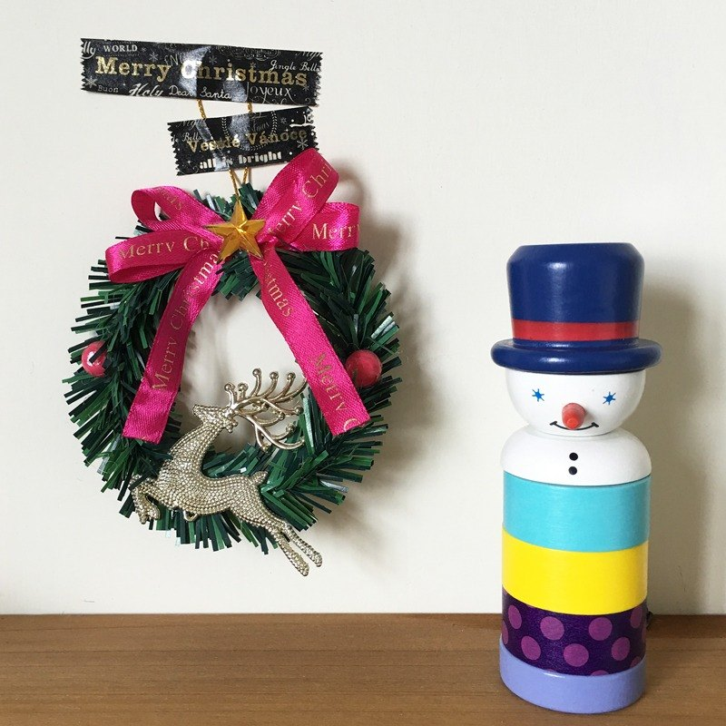 maste Xmas 聖誕木偶和紙膠帶組【雪人(MST-MKT171-B)】