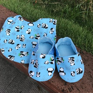 Panda Moon Gift Box - Toddler Shoes + Double Side Bib