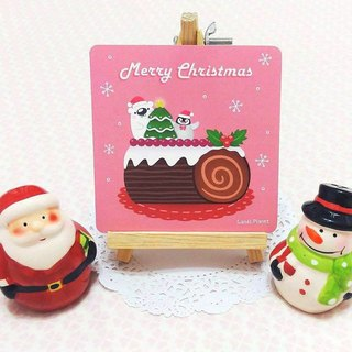Christmas limited small card. Christmas tree trunk cake