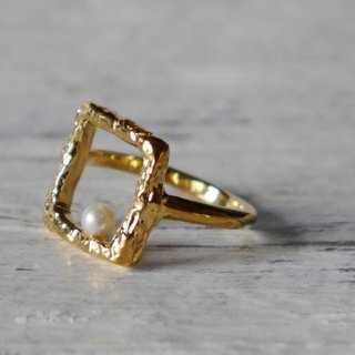 Square ring (K18 GP)