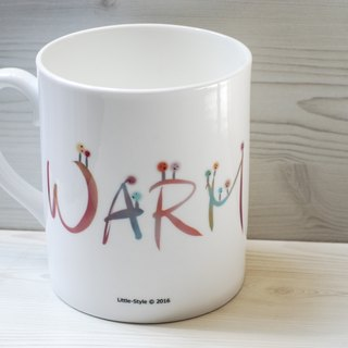 [Bone china mug] WARM (customized)