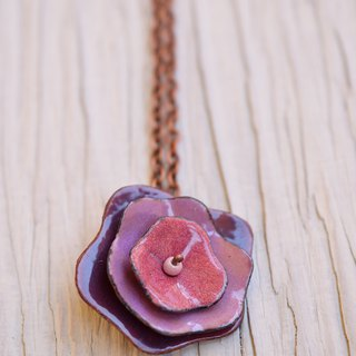 Rose, Jewelry,Necklace, Enamel, Flower, Rose Necklace, Rose Jewelry, Flower