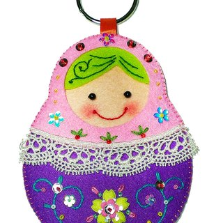 Yokou card sets - Russian dolls / pink purple