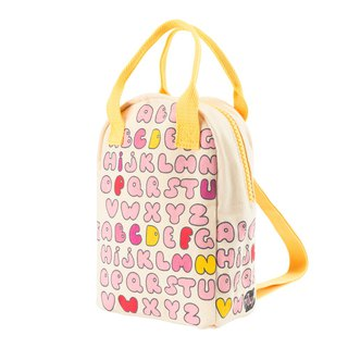 Canada fluf organic cotton [portable backpack] - bubble letters