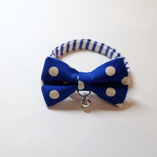 Miya ko.] Handmade cloth grocery cats and dogs tie / tweeted / bow / cute little / pet collars